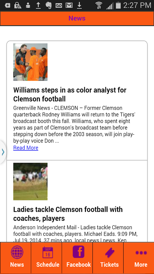 Football News Clemson Edition- screenshot