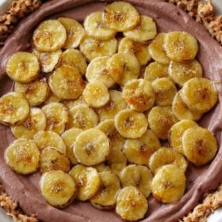 Dark Chocolate and Caramelised Banana Pie