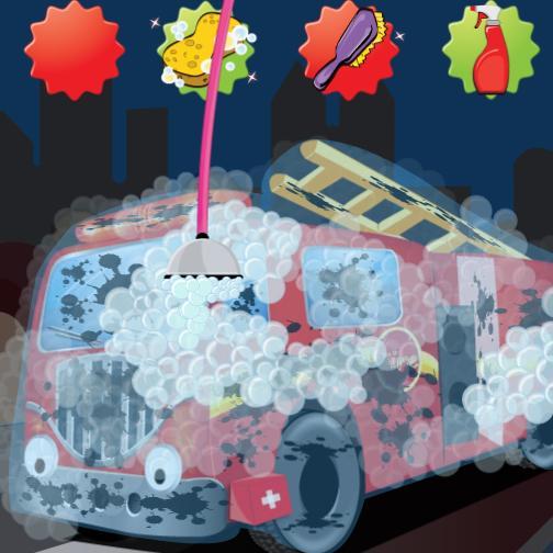 【免費休閒App】Firetruck wash-APP點子