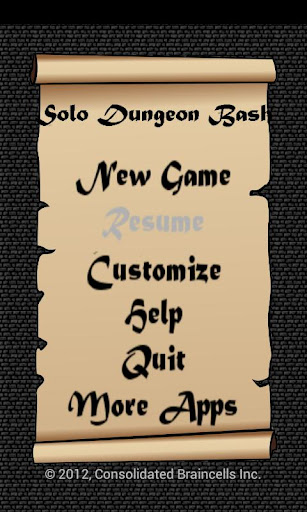 Solo Dungeon Bash