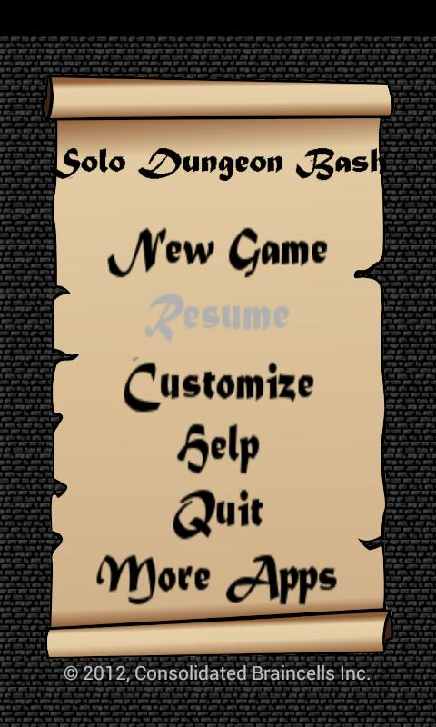 Solo Dungeon Bash - screenshot