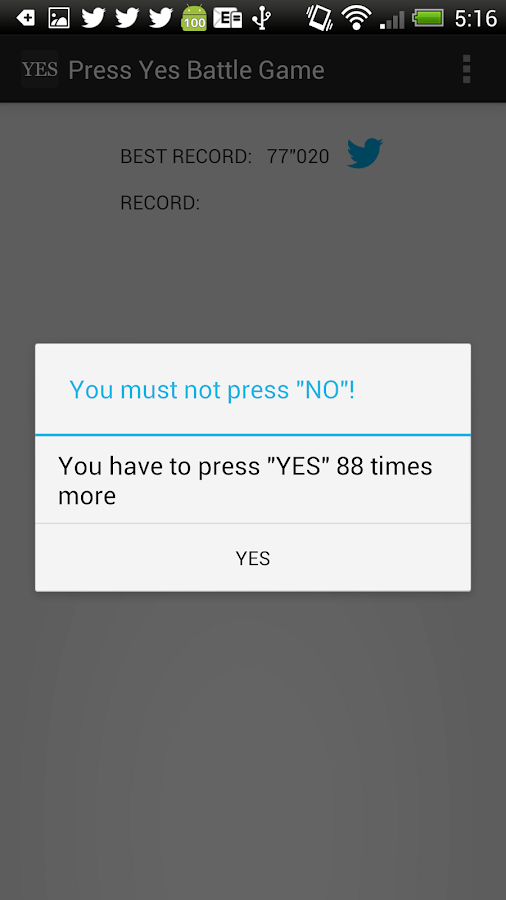 Press Yes Battle Game- screenshot