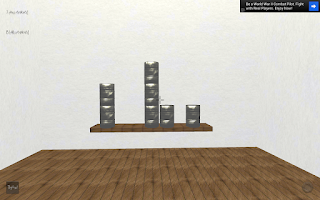 Screenshot of 3D Can Knockdown