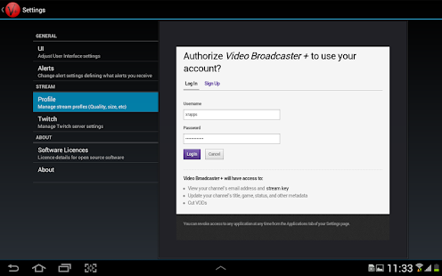 Video Broadcaster + - screenshot thumbnail