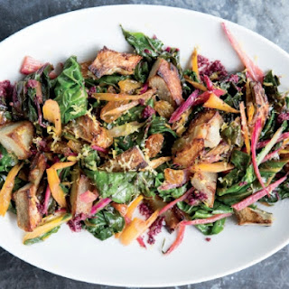 Chard Salad With Artichoke Hearts And Kalamata Olive Vinaigrette
