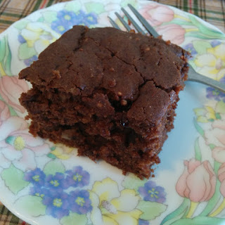 Chocolate Walnut Brownie Cake
