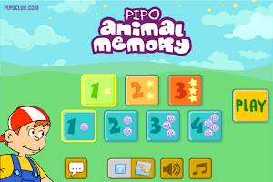 Screenshot of Pipo Animal Memory
