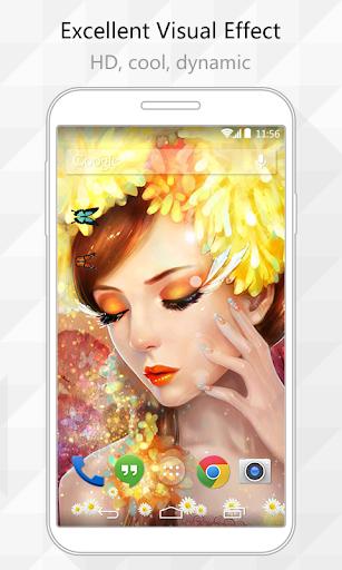 Golden Woman Live Wallpaper