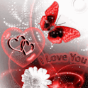 Red Butterfly I Love You Live logo