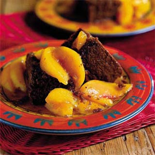 Cocoa Bread With Stewed Yard Peaches.