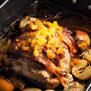 Roasted Pork Loin With Pear Sauce