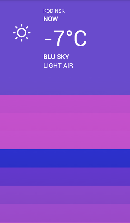 Blu Weather - screenshot