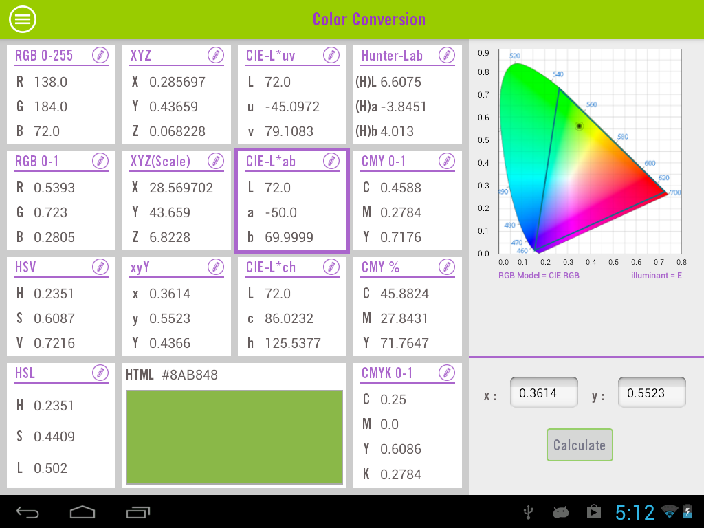 Color calculator demo android apps on google play color calculator demo screenshot geenschuldenfo Choice Image