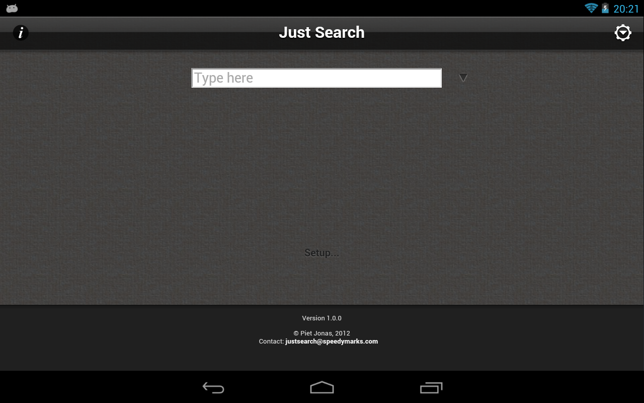 Just Search- screenshot