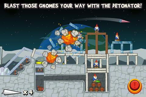 Paper Glider vs. Gnomes - screenshot