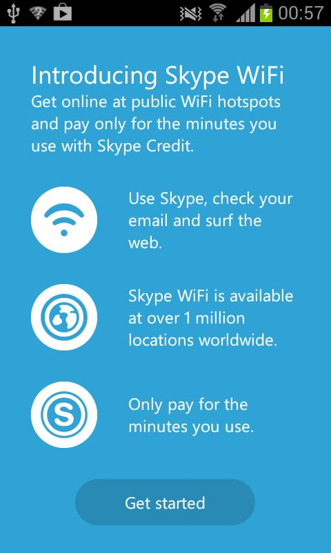 Skype WiFi - screenshot