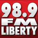 98.9 Liberty-We Play Anything logo