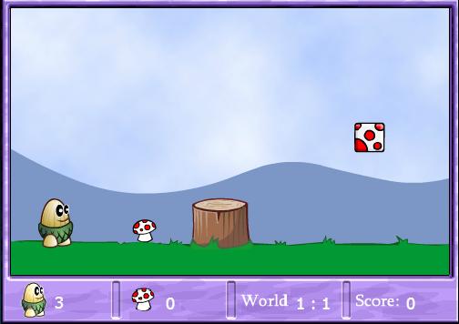 吃蘑菇的游戏。