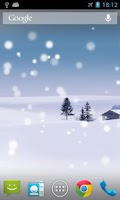 Screenshot of Snow Live Wallpaper