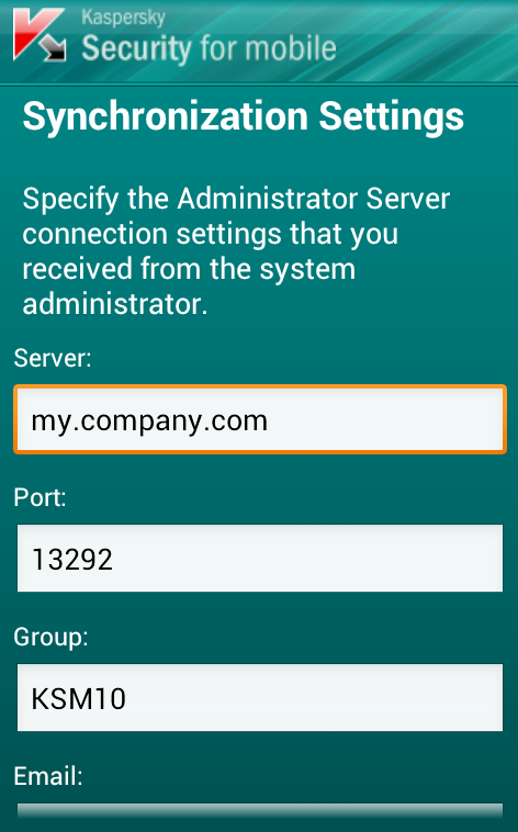 Kaspersky Security For Mobile - screenshot