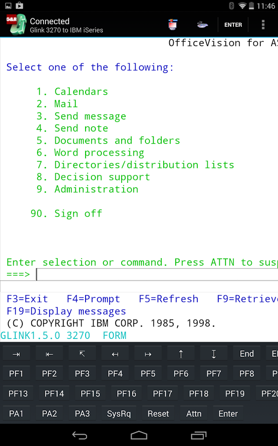 Glink 3270- screenshot