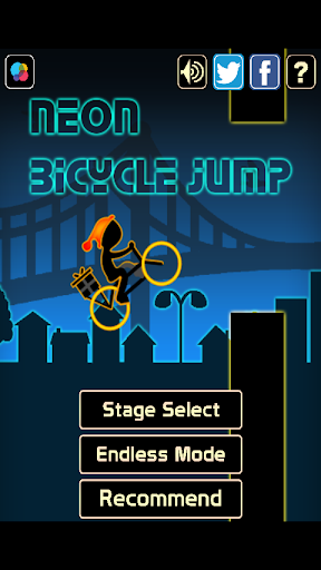 Neon Bicycle Jump