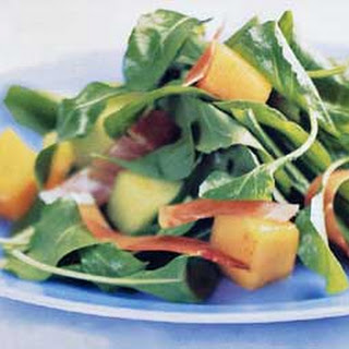 Melon, Arugula, and Serrano Ham with Smoked Paprika Dressing