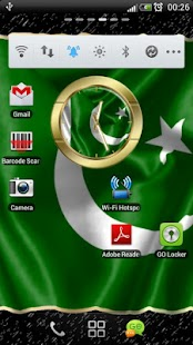 Pakistan flag clocks- screenshot thumbnail