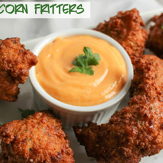 Sweet Corn Fritters with a Spicy Aioli.