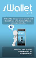 Screenshot of sWallet - Secure Wallet