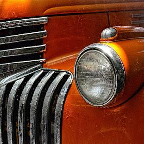 Chevy Truck by Felix M - Transportation Automobiles ( orange, sexy, sharp, truck, vintage, close up,  )