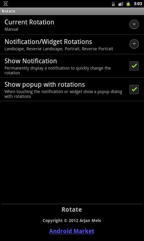 Rotation Control (License)- screenshot