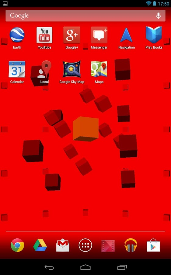 Colorful Cubes 3D  LWP- screenshot
