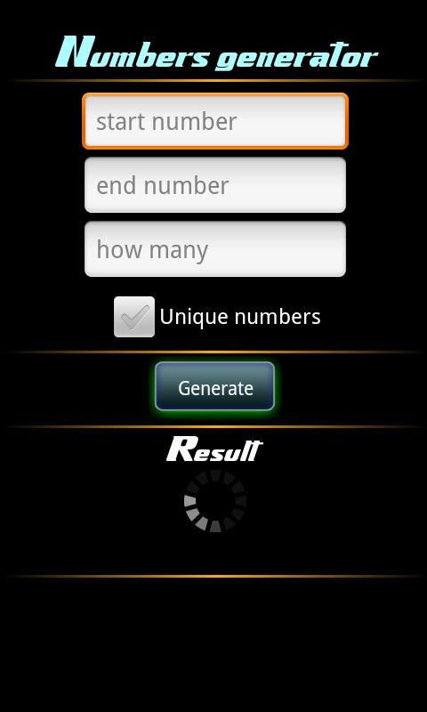 Number Generator Pro- screenshot