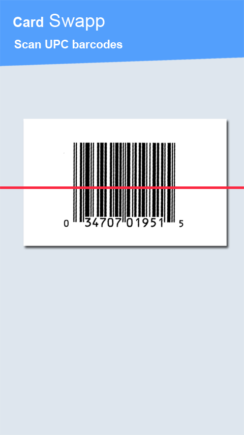 Cardswapp Barcode Scanner Swap - screenshot