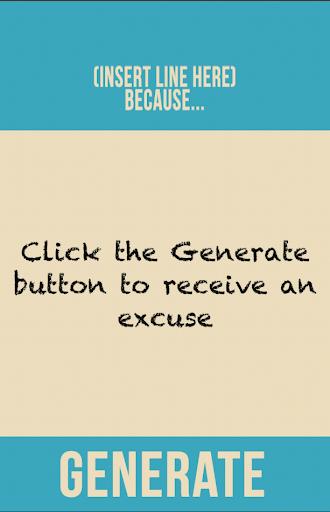 Excuses Generator