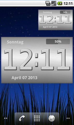 Metal Look Clock Widget