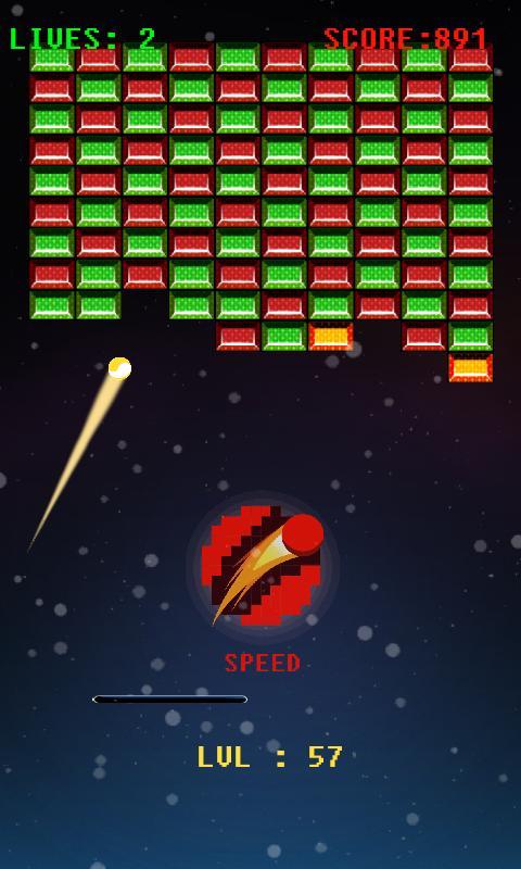 Space Bricks Breaker - screenshot