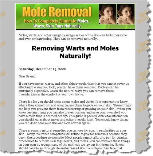Eliminate Moles