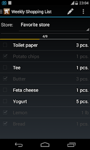 Weekly Shopping List screenshot 0