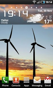 Windmills at Sunset LWP - screenshot thumbnail