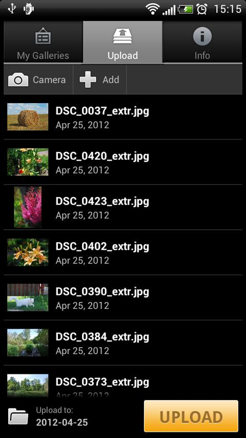 Pix Uploader - screenshot