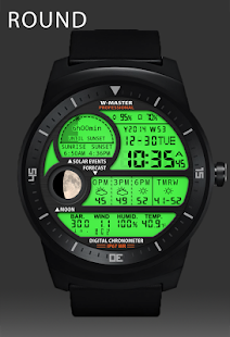 F04 WatchFace for Android Wear - náhled