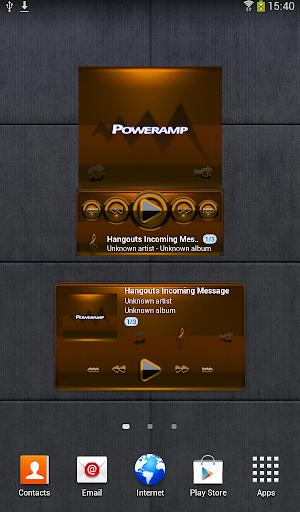 Poweramp widget - BLACK Orange