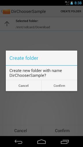 DirectoryChooser Sample