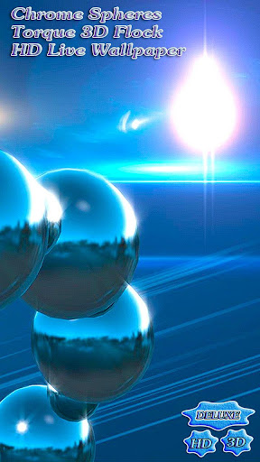 Chrome Spheres Torque 3D Flock