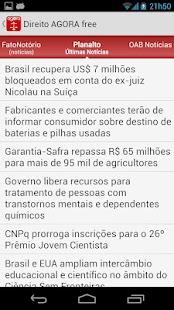 Direito AGORA Notícias (pro)- screenshot thumbnail