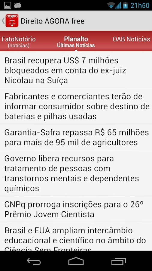 Direito AGORA Notícias (pro)- screenshot