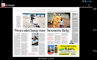 Screenshot of De Morgen