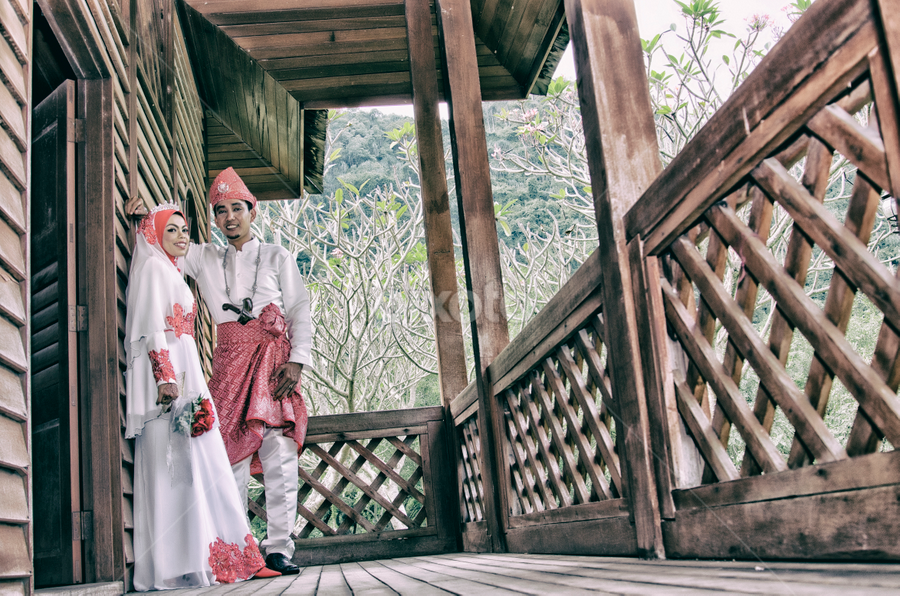 Only we two together by Iz Fotografi Art Works - Wedding Bride & Groom ( malay wedding, malay girl, malay, malaysia, bride, malaysian wedding, groom )